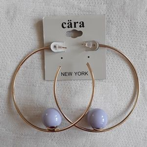Jewelry - Cara earrings big hoops with purple balls